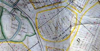 Wind Mill Hill Furlong on a map of 1760 [R1/42]